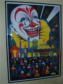 1095: Antique / Vintage Circus Original Poster. Remains