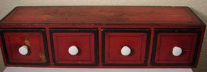 1150: Antique Paint Decorated Spice Cabinet