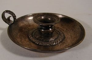 1011: Sterling Miniature Candle Holder