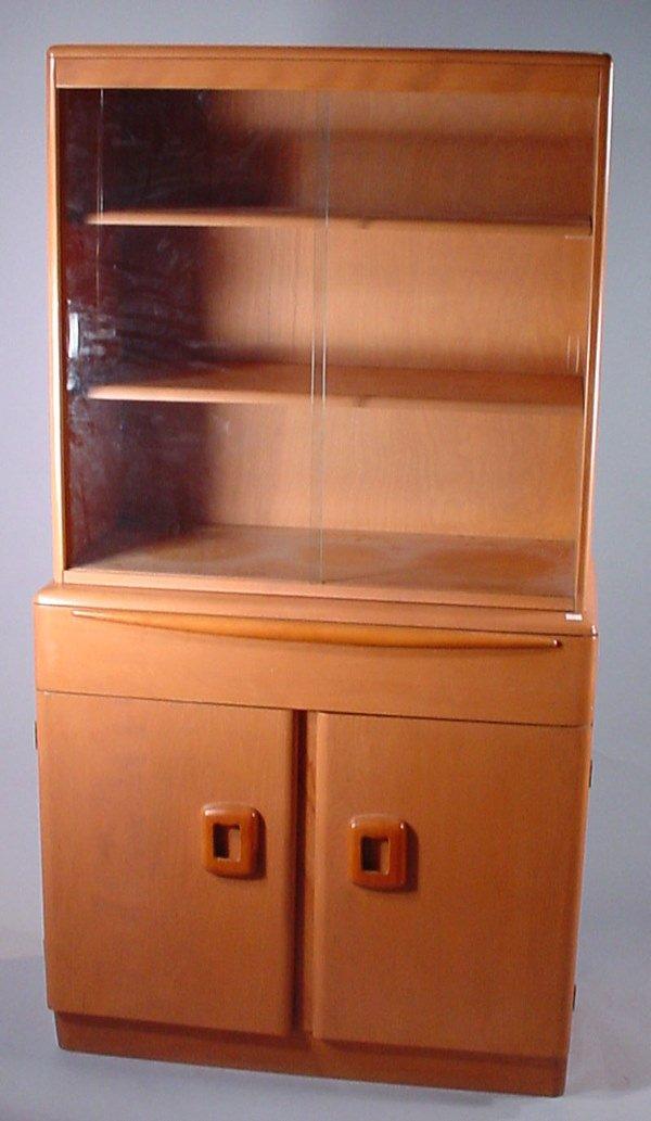 "4011: ""Heywood Wakefield"" Blonde Maple China Cabinet. F"