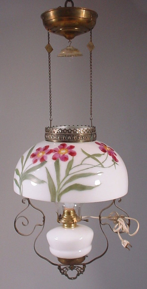 4014: Adjustable Hanging Kerosene Light Fixture with Ha