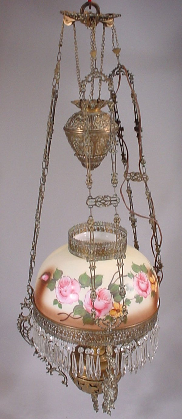 4016: Victorian Elaborately Cast Brass & Hand painted m