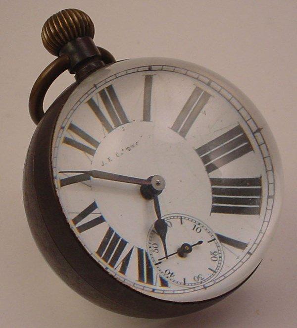 "4018: ""J.E. Caldwell"" Rare Paperweight Desk Clock. Mark"