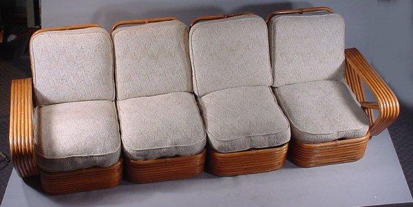 4004: Paul Frankl Rattan 4pc Living Room Suite