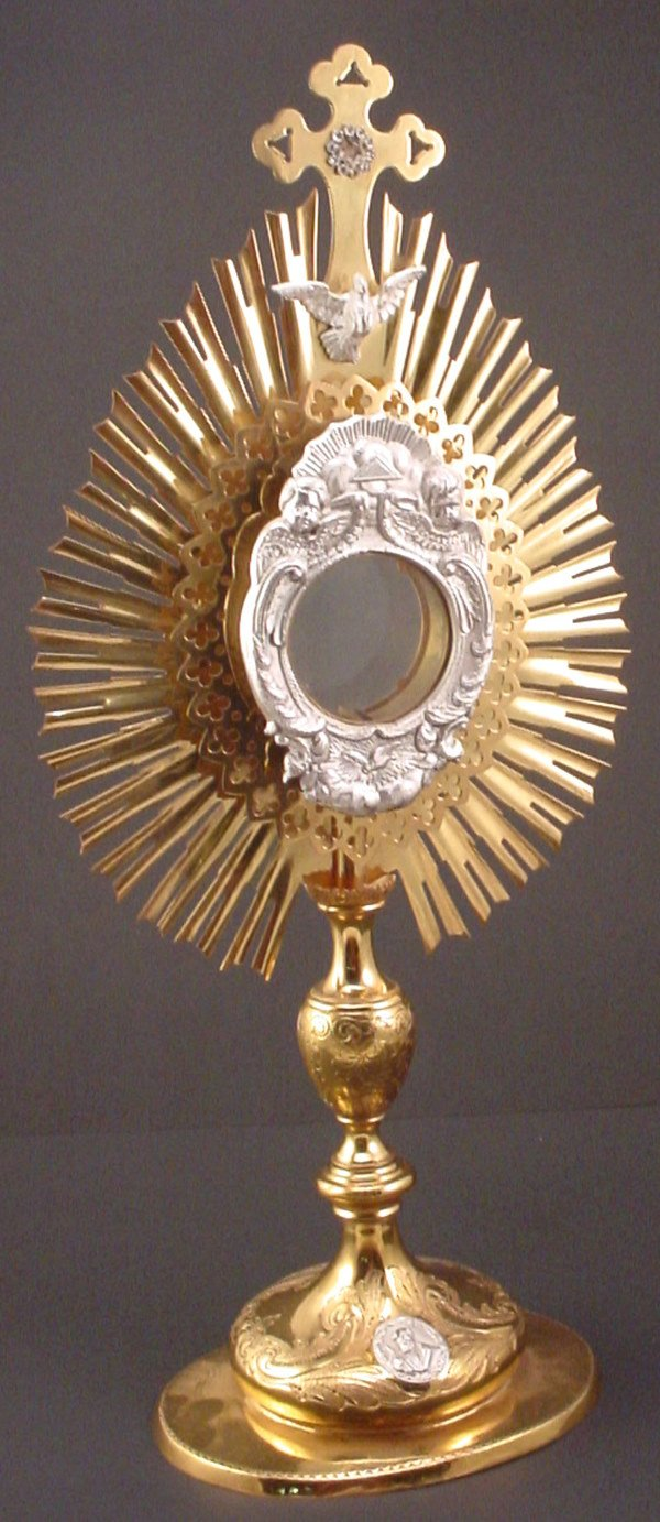 1010: Monstrance/Ostensorium of Gilt Metal with applied