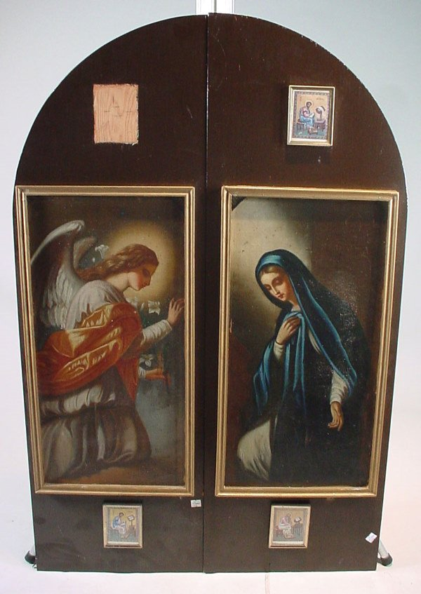 1012A: Pair of Fine Original Antique Religious themed O