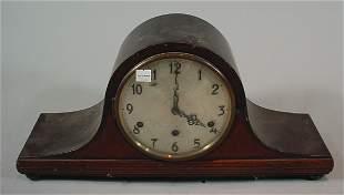 """""""Herman Miller Clock Co"""" Mahogany Camel back Mantle"""