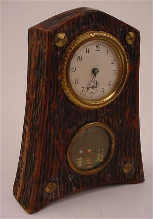 Antique Novelty Shelf Clock with painted decoration