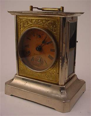 """German Musical Carriage style Clock. Marked """"Made i"""
