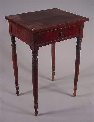 American Cherry One Drawer Stand with original fini