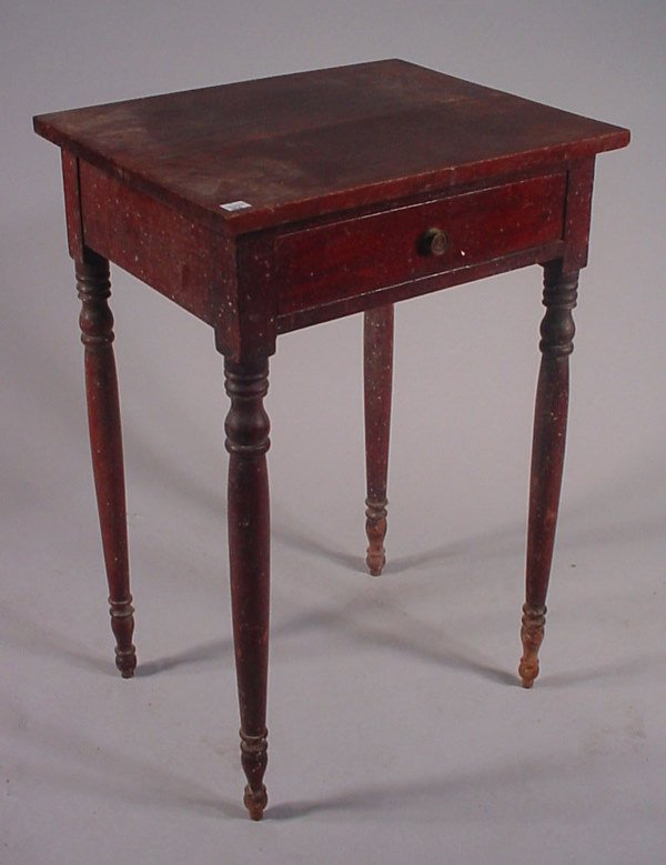 16: American Cherry One Drawer Stand with original fini