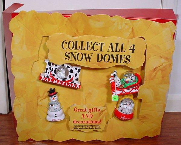 3: McDonald's 101 Dalmatians Collectible Snow Dome Stor