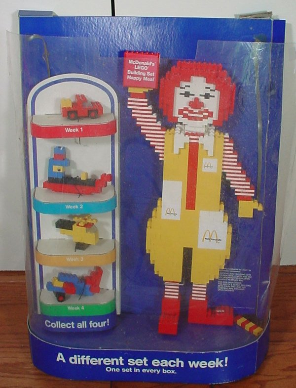 8: McDonald's Lego Happy Meal Collectibles Store Displa