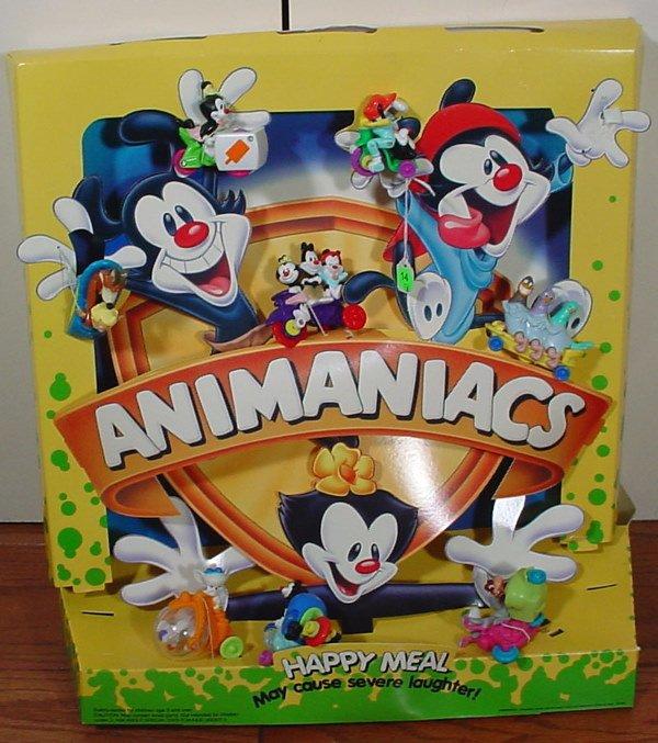 14: Nine McDonald's AniManiacs Happy Meal Collectibles