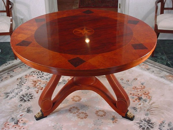 500: Widdicomb Fine inlaid Dining / Center Table