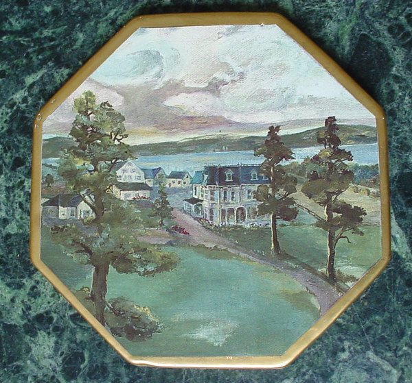 522: Mackenzie-Childs Octagonal Trivet with landscape s