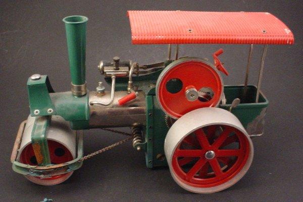 "2509: Toy ""Wilesco old Smokey steam roller"" 8""h x 13""w"