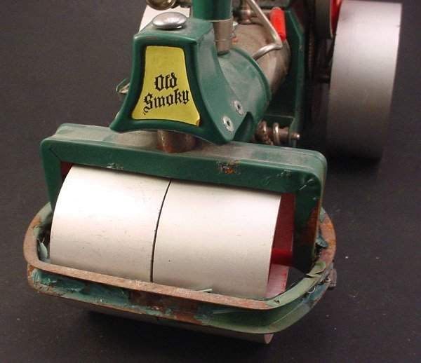"2509: Toy ""Wilesco old Smokey steam roller"" 8""h x 13""w - 2"