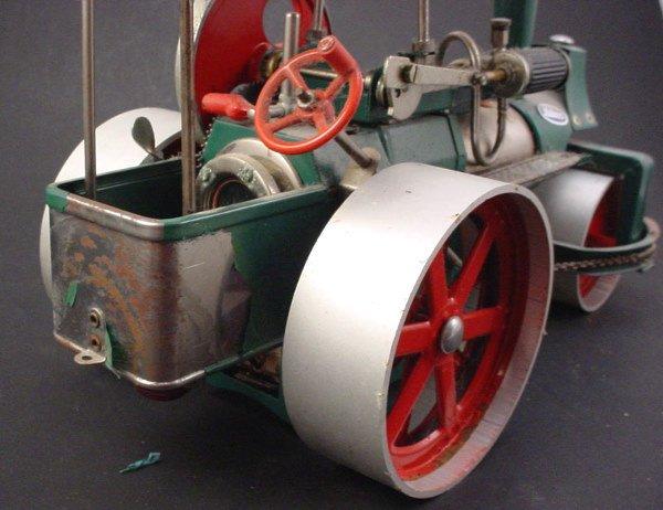 "2509: Toy ""Wilesco old Smokey steam roller"" 8""h x 13""w - 3"