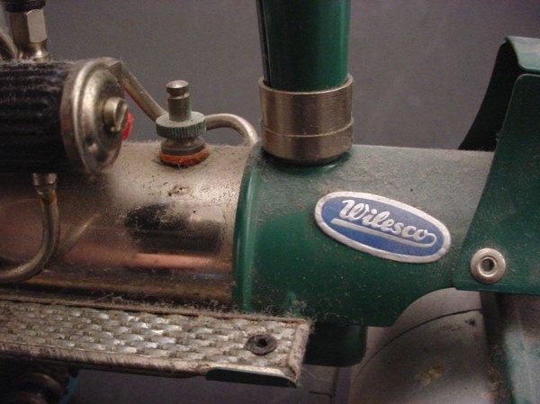 "2509: Toy ""Wilesco old Smokey steam roller"" 8""h x 13""w - 4"