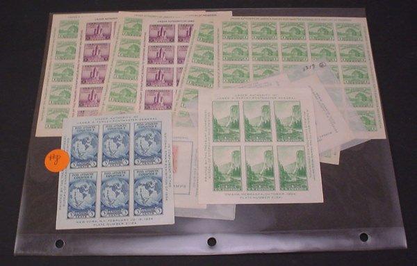 2008: 10 US souvenir sheets.