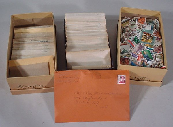 2010: 3 boxes of US and Foreign Stamps.