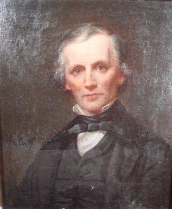 1116A: Pair of Grove Gilbert's oil on canvas portraits