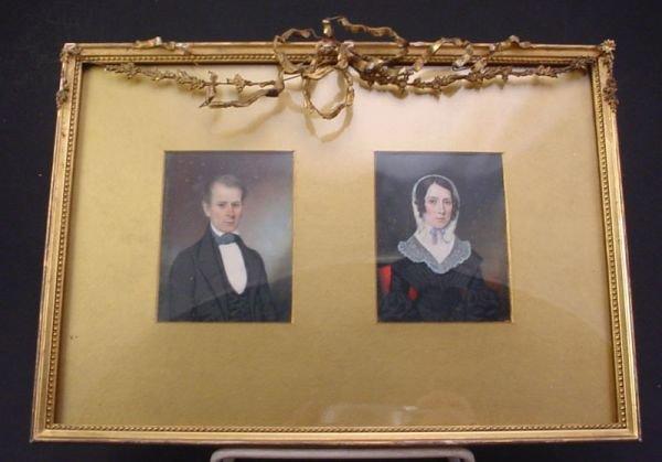 1114B: Pair of Miniature Portraits on Ivory, Hastings