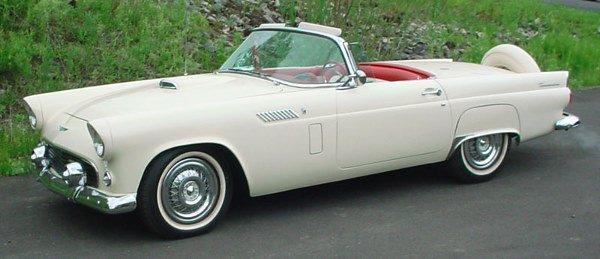 82: 1956 Ford Thunderbird Automobile Convertible