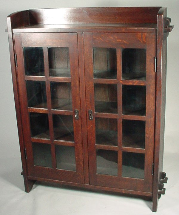 120: Gustav Stickley Mission style Oak Bookcase