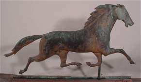 150: Antique Trotting Horse Weathervane. J.W. Fiske?
