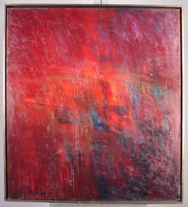 """1003: """"Karl Umlauf"""" painting """"Blast Furnace"""""""