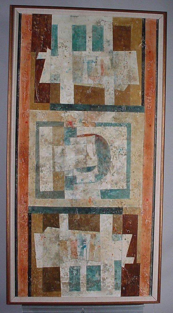 "1009: ""Jack Wolsky"" (American, b. 1930) abstract on mas"