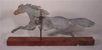 2051: American Folk Art running horse weathervane. Made