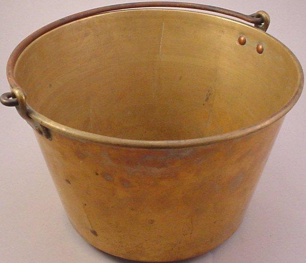 """2298: """"American Brass Kettle Manufacturers"""" spun brass"""