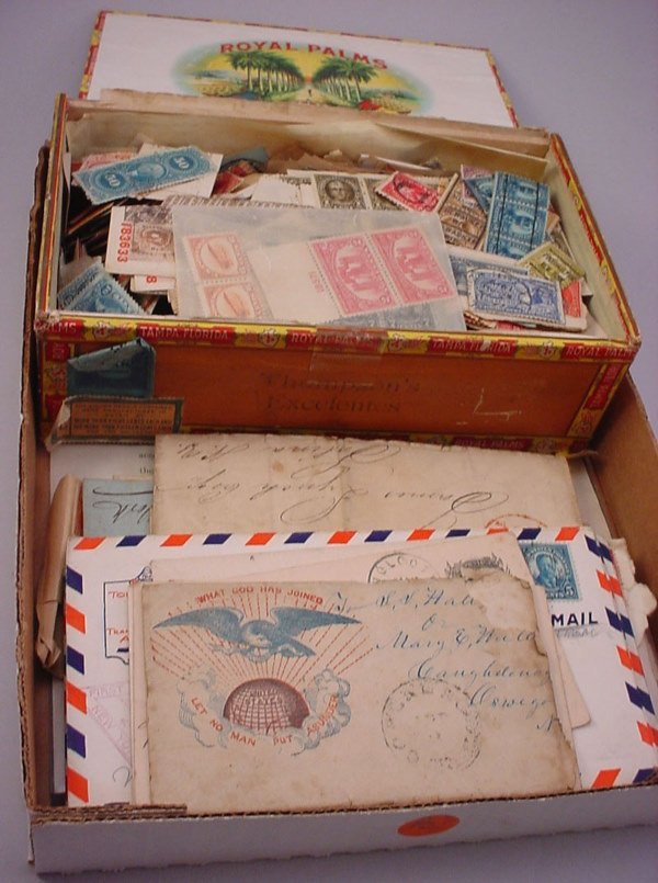 2: Lot U.S. stamps & covers and 1863 Draft notice.