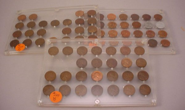 229: Partial Lincoln Cent. 1909-1948 w/1922 plain.
