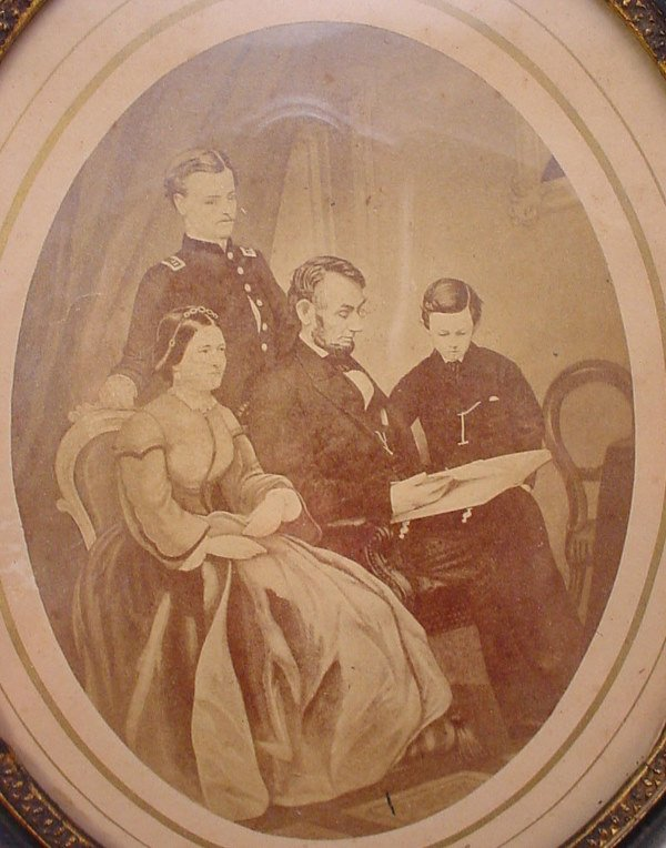 "1027: Print. Titled ""Abraham Lincoln and His Family"" in"