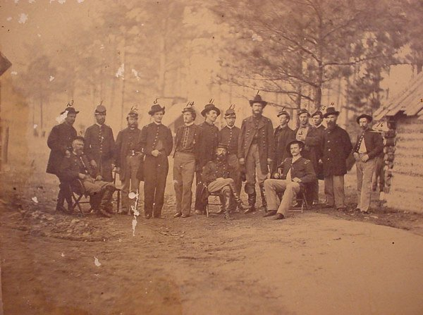 1029: Civil War era Photograph. Headquarters at Port Hu