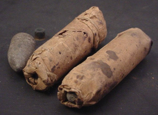 1036: Two Civil War Era Paper Cartridges.