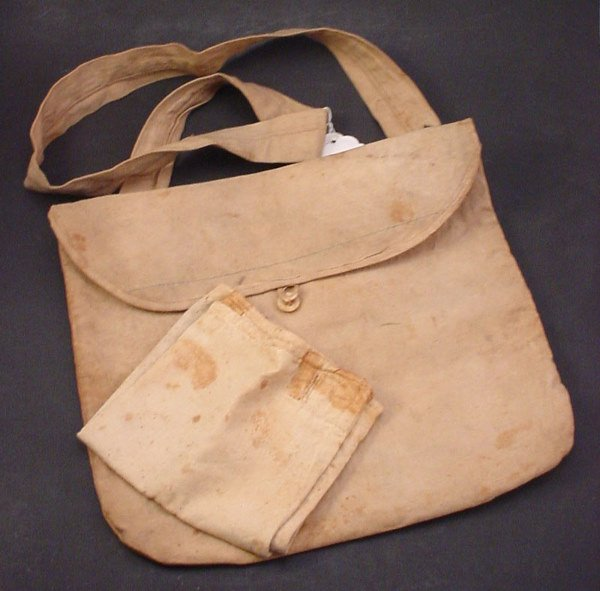 1042: Two Civil War era Hand sewn Canvas Medical Bags i