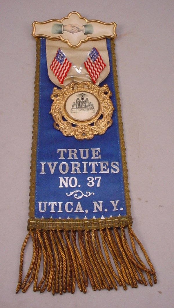 1142: Memoriam Pin of True Ivorites No.37 Utica, N.Y. H