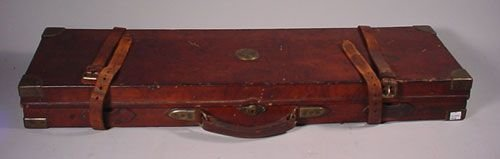1024: J. Purdey & Sons leather Wooden Gun Case