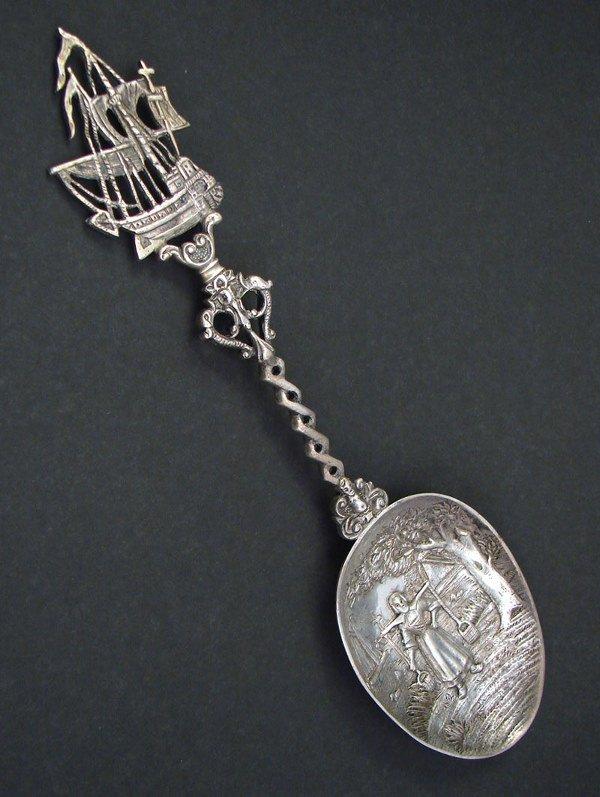 2004: Decorative Spoon with Girl with yoke bearing wate