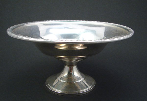 """2005: Sterling weighted Pedestal Dish. 3 1/4""""h x 6 1/2"""""""