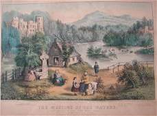"""2214: Currier & Ives. Titled """"The Meeting of the Waters"""