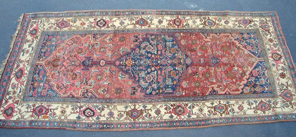 """2283: Antique Persian Carpet. Needs cleaning. 10'9"""" x 5"""
