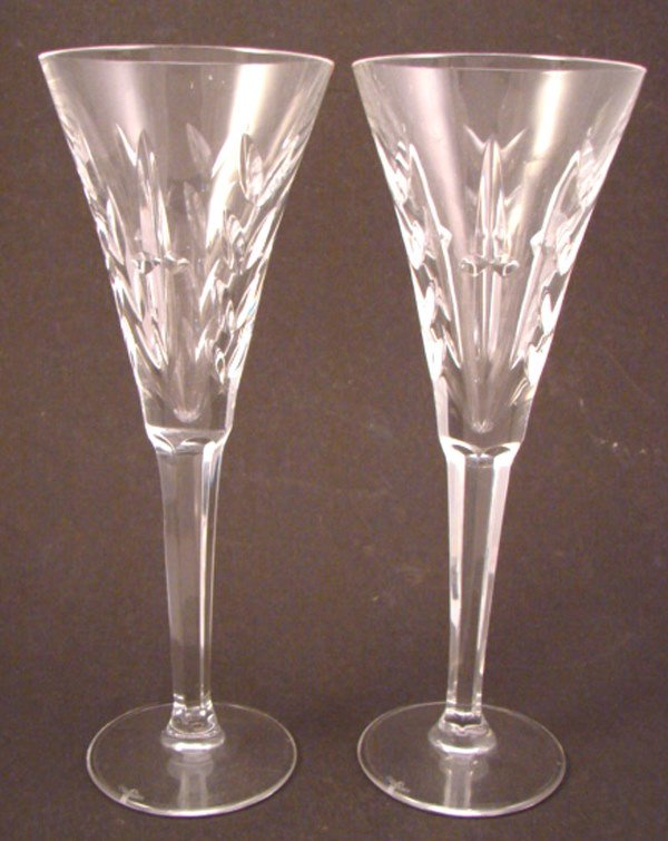 """15: Two """"Waterford"""" Champagne stemware. 9 1/4""""."""