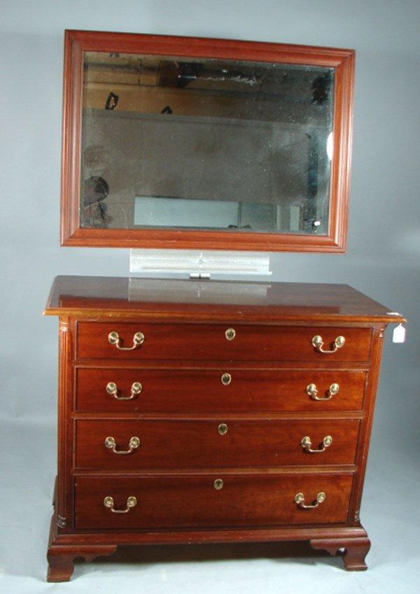 28: Stickley signed Cherry Dresser with mirror, quarter