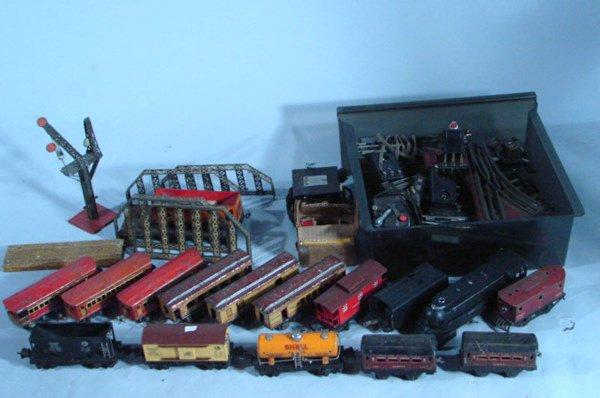 214: Lionel Train Set including trains, tracks, bridges